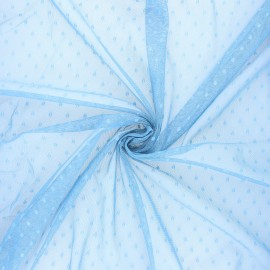Tulle fabric - light blue Millie x 10 cm