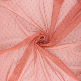 Tissu tulle souple Point d'esprit Millie - rose thé x 10cm