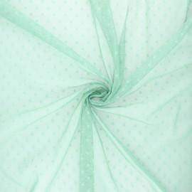 Tissu tulle souple Point d'esprit Millie - vert sauge x 10cm