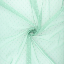 Tulle fabric - sage green Millie x 10 cm