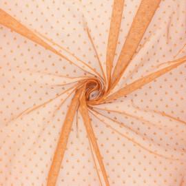 Tissu tulle souple Point d'esprit Millie - roux x 10cm
