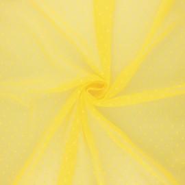 Tissu tulle souple Point d'esprit Millie - jaune x 10cm