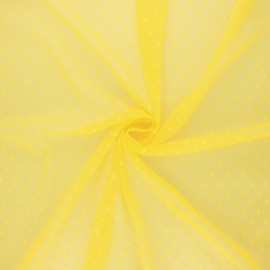 Tulle fabric - yellow Millie x 10 cm