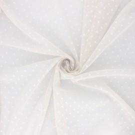 Tissu tulle souple Point d'esprit Millie - gris perle x 10cm
