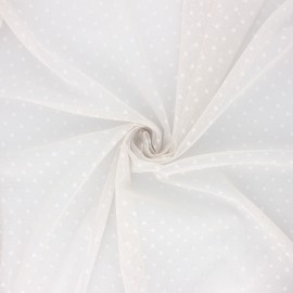 Tulle fabric - pearl grey Millie x 10 cm