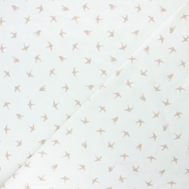 Printed Jersey fabric - raw Swallow dance x 10cm