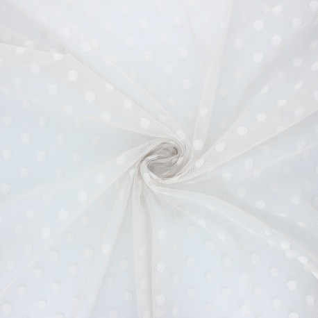 Tulle fabric - pearl grey Maxi Millie x 10 cm