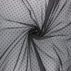 Tissu tulle souple Point d'esprit Millie - rose x 10cm