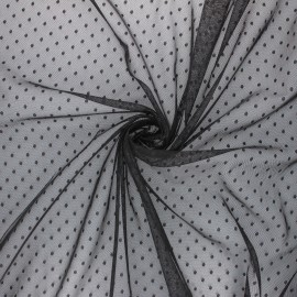 Tulle fabric - black Millie x 10 cm