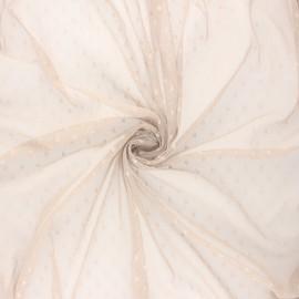 Tissu tulle souple Point d'esprit Millie - sable x 10cm