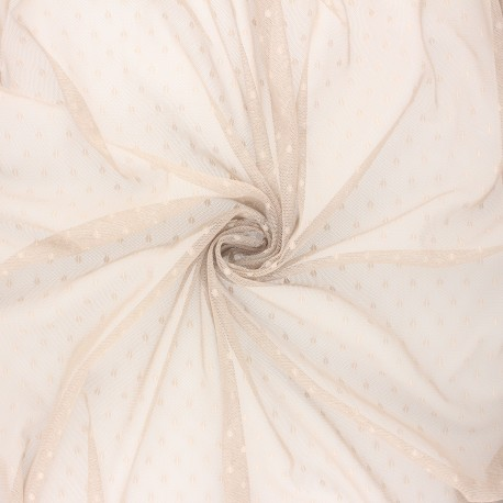 Tulle fabric - Taupe grey Millie x 10 cm