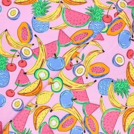 Tissu jersey Frugivorus - rose x 10cm