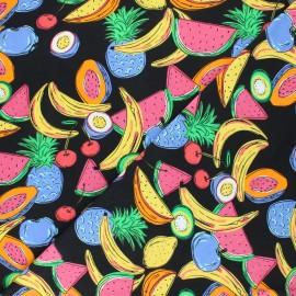 Tissu jersey Frugivorus - noir x 10cm