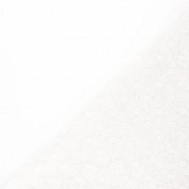 Tissu tulle souple Point d'esprit Flower - écru x 10cm