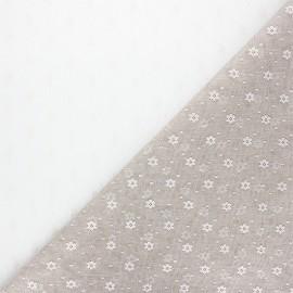 Tulle fabric - greige Flower x 10 cm