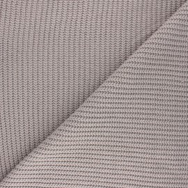 Ribbed knit fabric - taupe Mila x 10cm