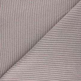 Tissu Maille côtelé Mila - taupe x 10cm