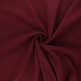 Milano jersey fabric - burgundy Light x 10 cm