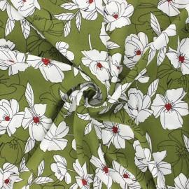 Elastane crepe fabric - khaki Sibylle x 10cm