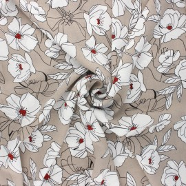 Elastane crepe fabric - grege Sibylle x 10cm
