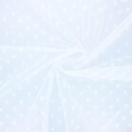 Tissu tulle souple Point d'esprit Maxi Millie - écru x 10cm