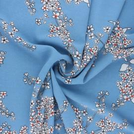 Tissu crêpe élasthanne Clothilde - bleu houle x 10cm