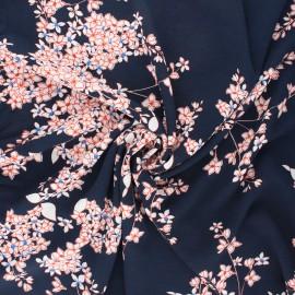 Tissu crêpe élasthanne Clothilde - bleu nuit x 10cm