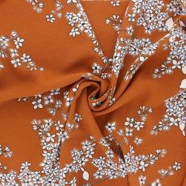 Tissu crêpe élasthanne Clothilde - camel x 10cm