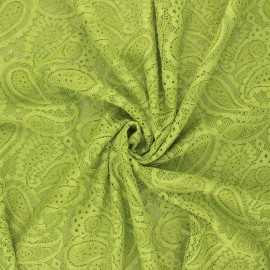 Elastane lace fabric - green Luce x 10cm