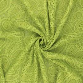 Tissu dentelle élasthanne Luce - vert x 10cm