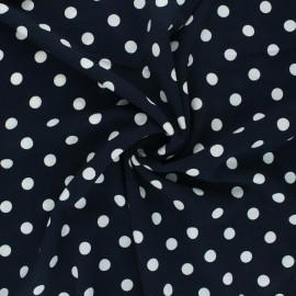Tissu crêpe élasthanne Romy - bleu nuit x 10cm