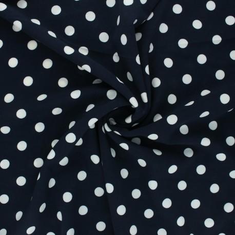 Elastane crepe fabric - night nlue Romy x 10cm