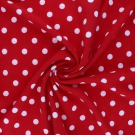 Tissu crêpe élasthanne Romy - rouge x 10cm