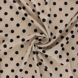 Elastane crepe fabric - grege Romy x 10cm
