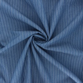 Tissu coton chambray Santa-Lucia - bleu clair x 10cm