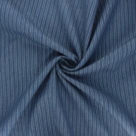 Tissu coton chambray Santa-Lucia - indigo x 10cm