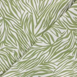 Linen and viscose fabric - green Zélie x 10 cm