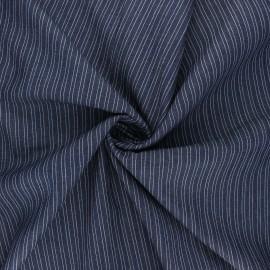 Tissu coton chambray Santa-Lucia - bleu nuit x 10cm
