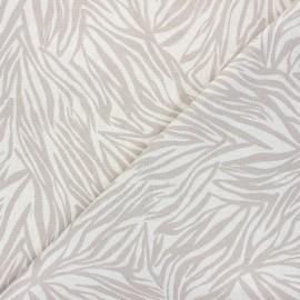 Tissu lin viscose Zélie - grège x 10 cm