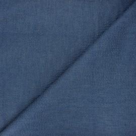 Tissu coton chambray gaufré Rotterdam - indigo x 10cm