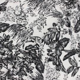 Tissu lin viscose Passion flower - blanc cassé x 10 cm