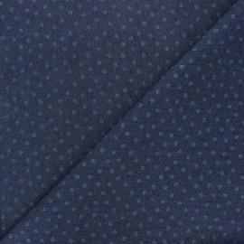 Tissu jeans fluide élasthanne Tourbillon - bleu nuit x 10cm