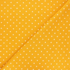Linen and viscose fabric - mustard yellow Mathilda x 10 cm