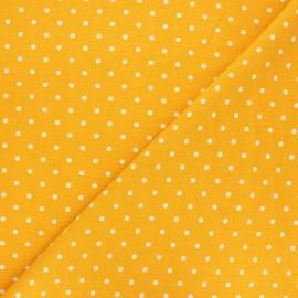 Tissu lin viscose Mathilda - jaune moutarde x 10 cm