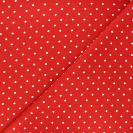 Linen and viscose fabric - red Mathilda x 10 cm