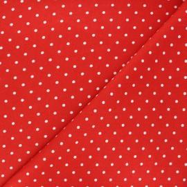 Linen and viscose fabric - red Mathilda x 10 cm