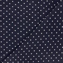 Linen and viscose fabric - night blue Mathilda x 10 cm