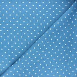 Tissu lin viscose Mathilda - bleu houle x 10 cm
