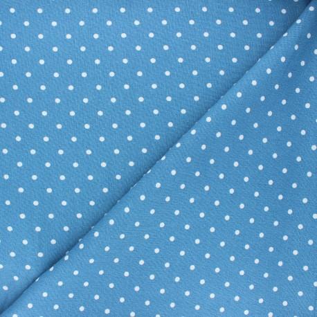 Linen and viscose fabric - swell blue Mathilda x 10 cm