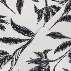 Linen and viscose fabric - natural Apolline x 10 cm